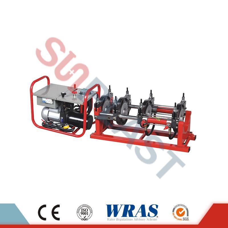 63-160мм Хидраулична машина за заваривање маслаца за ХДПЕ цеви
